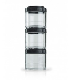 Blender Bottle - GoStack 3x100ml - Noir