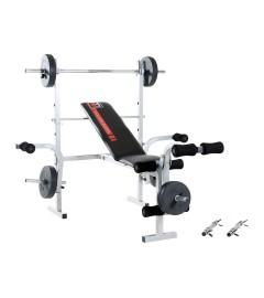 Hammer - Banc de musculation avec des poids 25 kg inclus (Ø 30 mm)