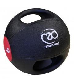 Medecine Ball avec poignées 9 kg Fitness-MAD