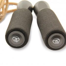Corde à sauter en cuir lestée FitnessMad