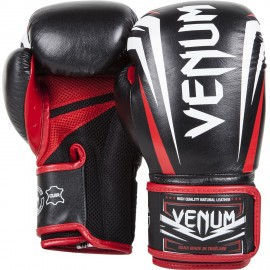 Venum - Gants de boxe Sharp Cuir Nappa - Noir/rouge
