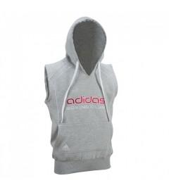 Sweat à capuche sans manches Gris Adidas