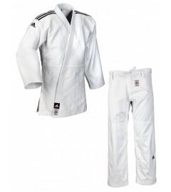 """Kimono judo """"Champion II"""" IJF Blanc/Noir Adidas"""