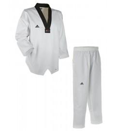 "Dobok Taekwondo ""adichamp III"" Blanc/Noir Adidas"