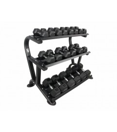 Hexagon 3-tier dumbbell rack