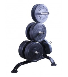 Weightplate rack for 50mm discs (black)