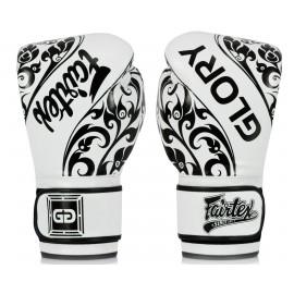 Gants de boxe Glory Blanc/Noir Fairtex
