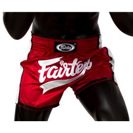 Short de Boxe Thaï Rouge/Blanc Fairtex