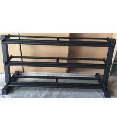 Rack de rangement horizontale 3 niveaux pour haltères