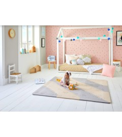 BabyBOOmats - Schaumstoffmatte für Kinder - BEIGE / GREY