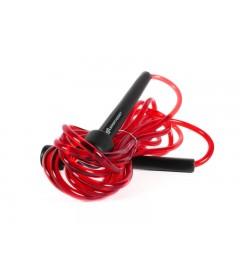 Corde à sauter classique en plastique (rouge) - SA FITNESS