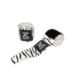 Bandes de Boxe 450cm Noir/Blanc Zebra