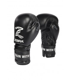 Gants de boxe Performance en cuir Zebra