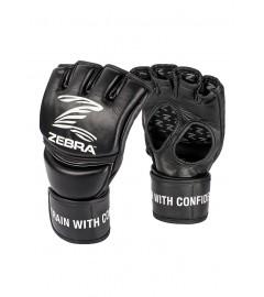 Gants de MMA Pro en cuir Zebra