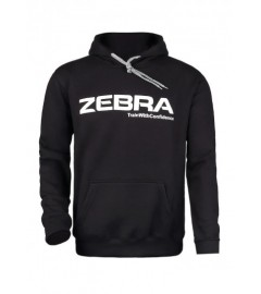 Hoodie Noir Zebra