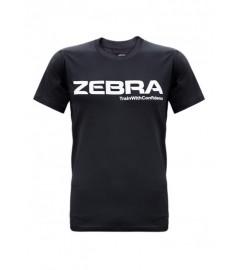 T-Shirt Noir Performance Zebra Athletics