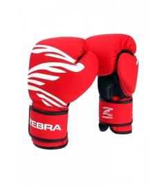 Gants de boxe Fitness training Rouge (PU) Zebra