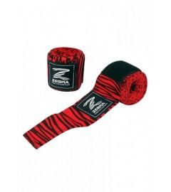 Bandes de Boxe 350cm Noir/Rouge Zebra