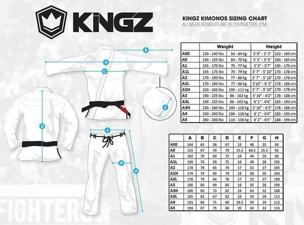Guides tailles Kimono kingz