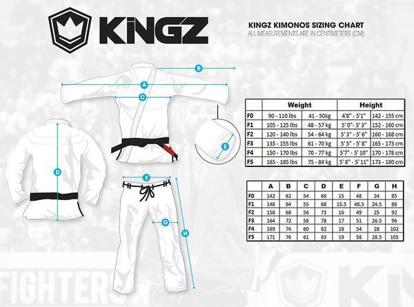 Guides taille Kimono Kingz Nano